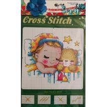 """Набор для вышивания крестиком """"Спокойной ночи малыш"""", 13 х 20 см."""
