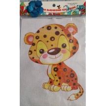"""Набор для вышивания крестиком """"Леопард"""", 17 х 21 см."""