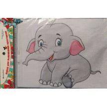 """Набор для вышивания крестиком """"Слонёнок"""", 17 х 21 см."""