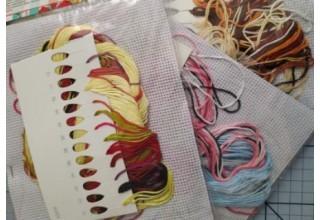 """Набор для вышивания крестиком """"Зайчата"""", 20 х 28 см."""