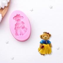 """Молд силиконовый """"Мишка в платье"""", 8,4 х 5,5 см"""