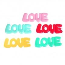 """Декор пластик """"LOVE"""" МИКС 8 х 2,7 см. Цена за 1 шт."""