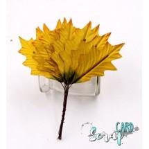 """Декоративное украшение """"Листья"""". Цвет: жёлто-зелёный. Размер - 35 х 80 мм. В комплекте 12 штук."""