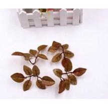 """Декоративное украшение """"Веточка с листиками"""". Цвет: коричневый. Размер - 11 х 6 см. Цена за 1 шт."""