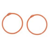 Кольца для альбомов, 2 шт Оранжевые d=4,5 см