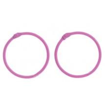 Кольца для альбомов, 2 шт Ярко-розовые d=4,5 см