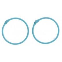 Кольца для альбомов, 2 шт Светло-голубые d=4,5 см