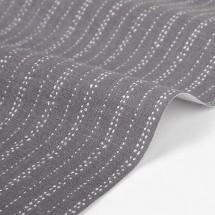Ткань Dailylike Лен Пунктиры на сером. Размер отреза 48х45 см